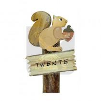 Houten magneet Eekhoorn Twente