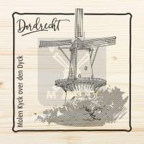 Magneet hout 6x6cm Dordrecht