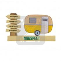 Magneet hout caravan Nunspeet (3405053&)