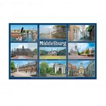 Magneet doming 5,5x8,5cm Middelburg