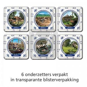 Set 6 Onderzetters Giethoorn