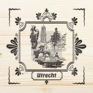 Onderzetter enkel hout laser Utrecht