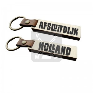 Sleutelh. hout leren band Afsluitdijk