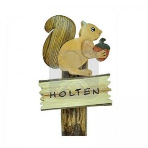 Houten magneet Eekhoorn Holten