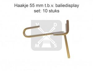 Set 10 haakjes 55mm Baliedisplay